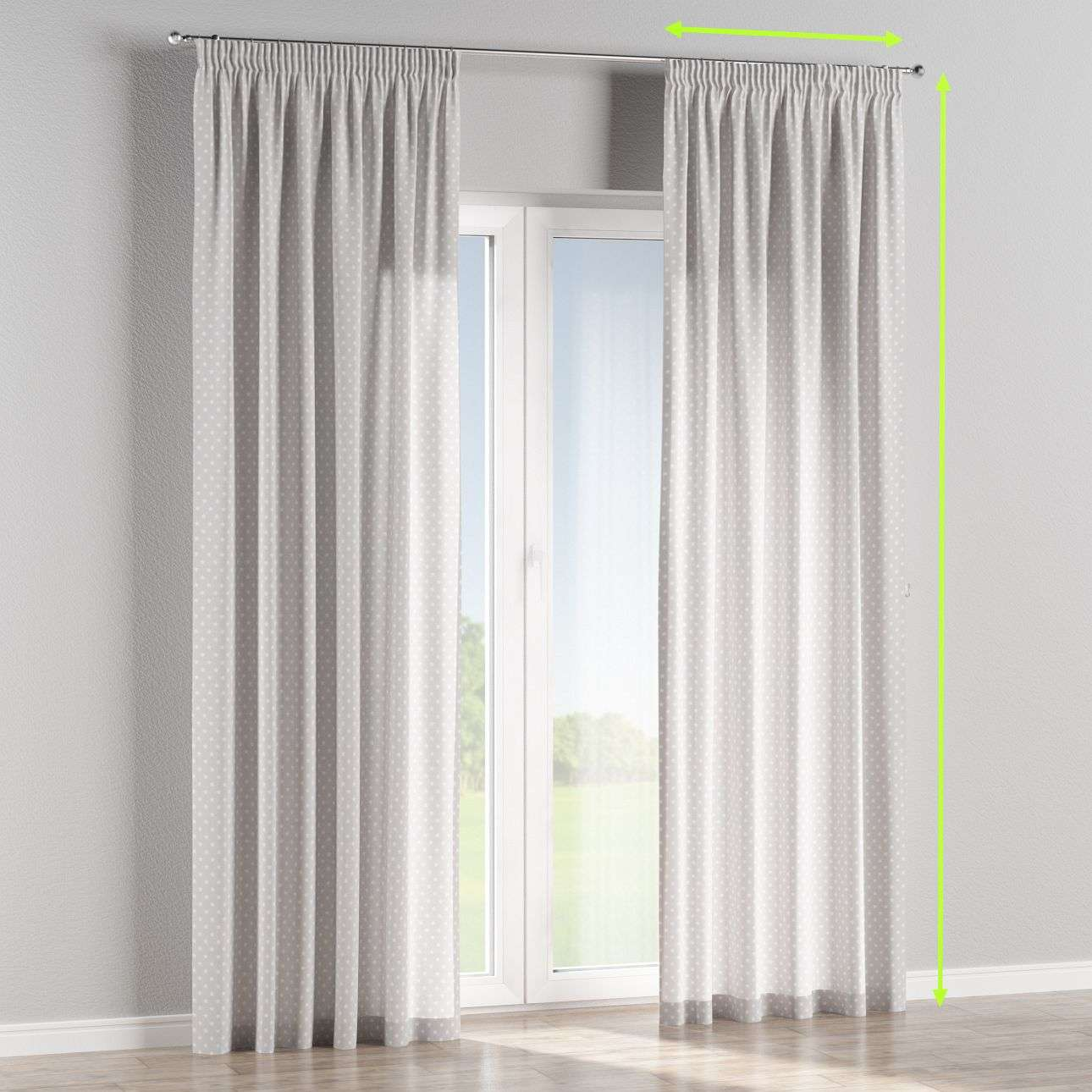 Pencil pleat curtains in collection Ashley, fabric: 137-67