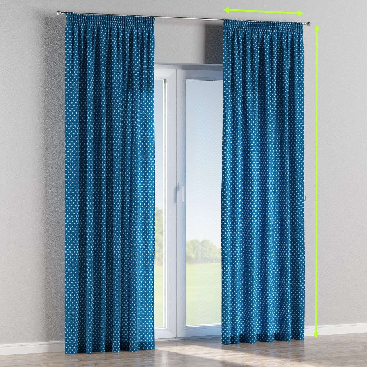 Pencil pleat curtains in collection Ashley, fabric: 137-72