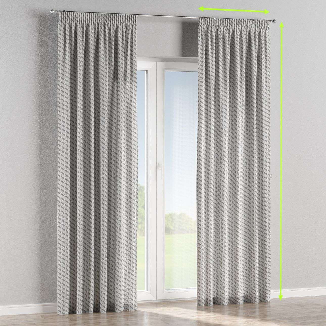 Pencil pleat curtains in collection Rustica, fabric: 138-18