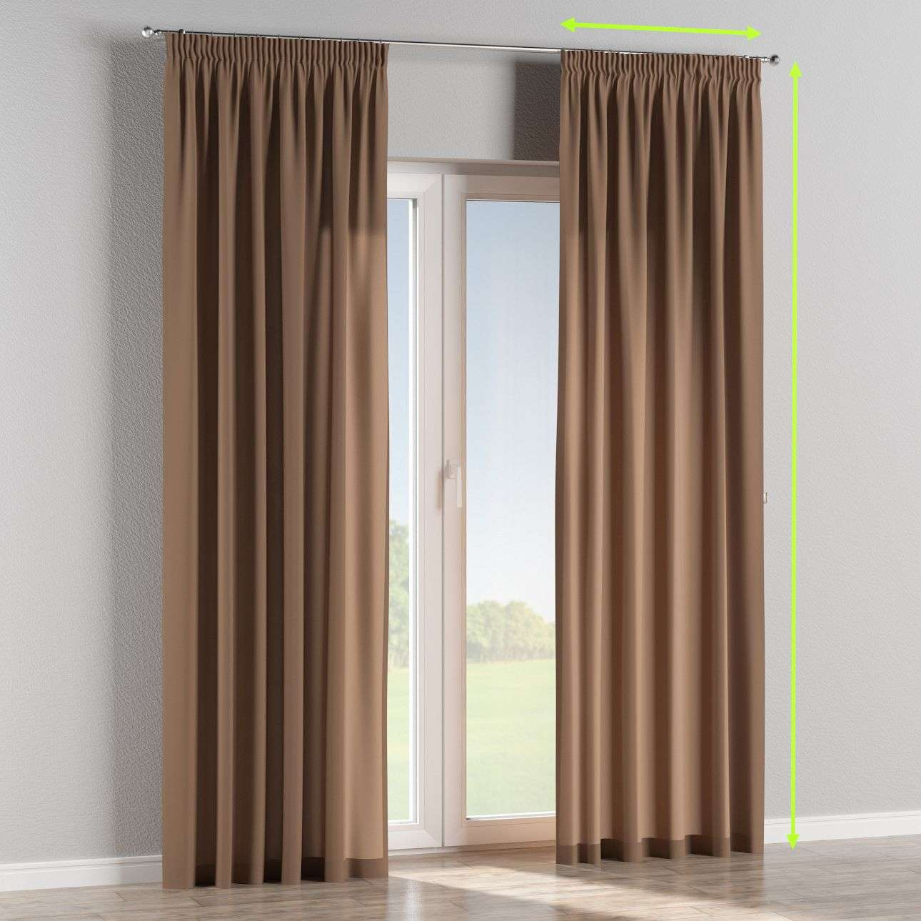 Pencil pleat curtains in collection Comic Book & Geo Prints, fabric: 139-15