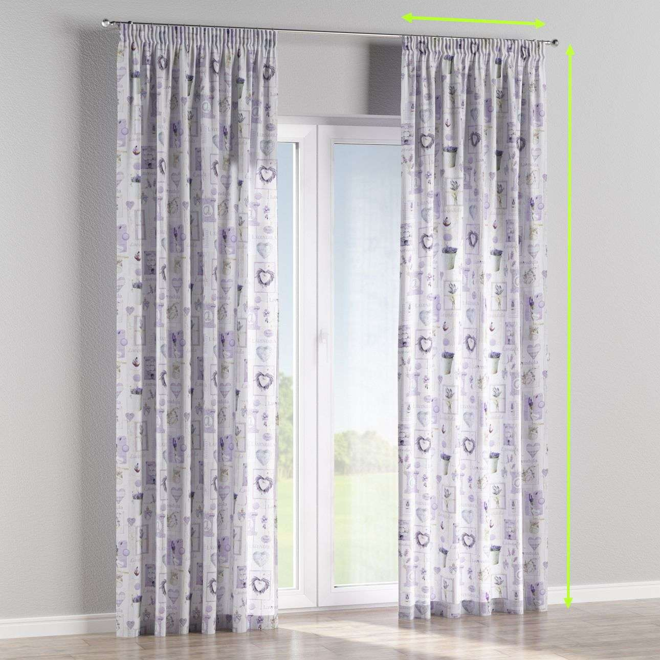 Pencil pleat curtains in collection Ashley, fabric: 140-18
