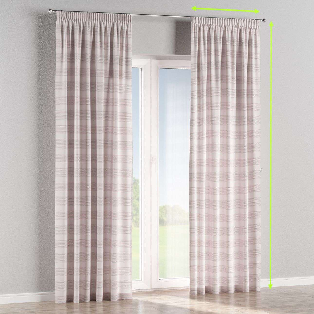 Pencil pleat curtains in collection Rustica, fabric: 140-29