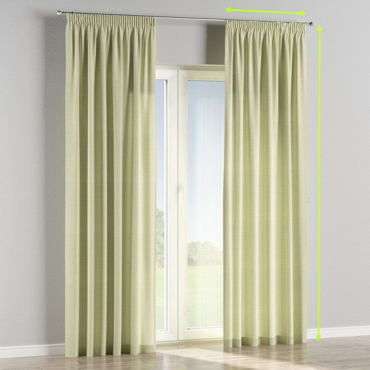 Pencil pleat curtains in collection Rustica, fabric: 140-34
