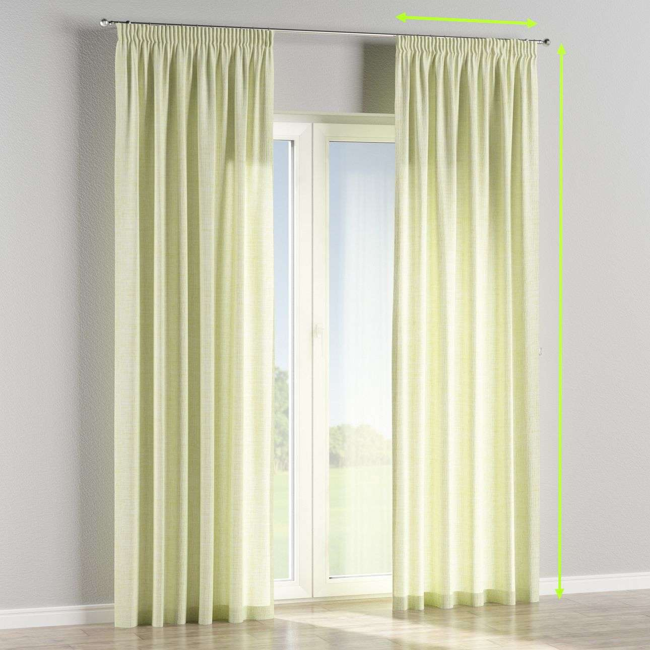 Pencil pleat curtains in collection Aquarelle, fabric: 140-73