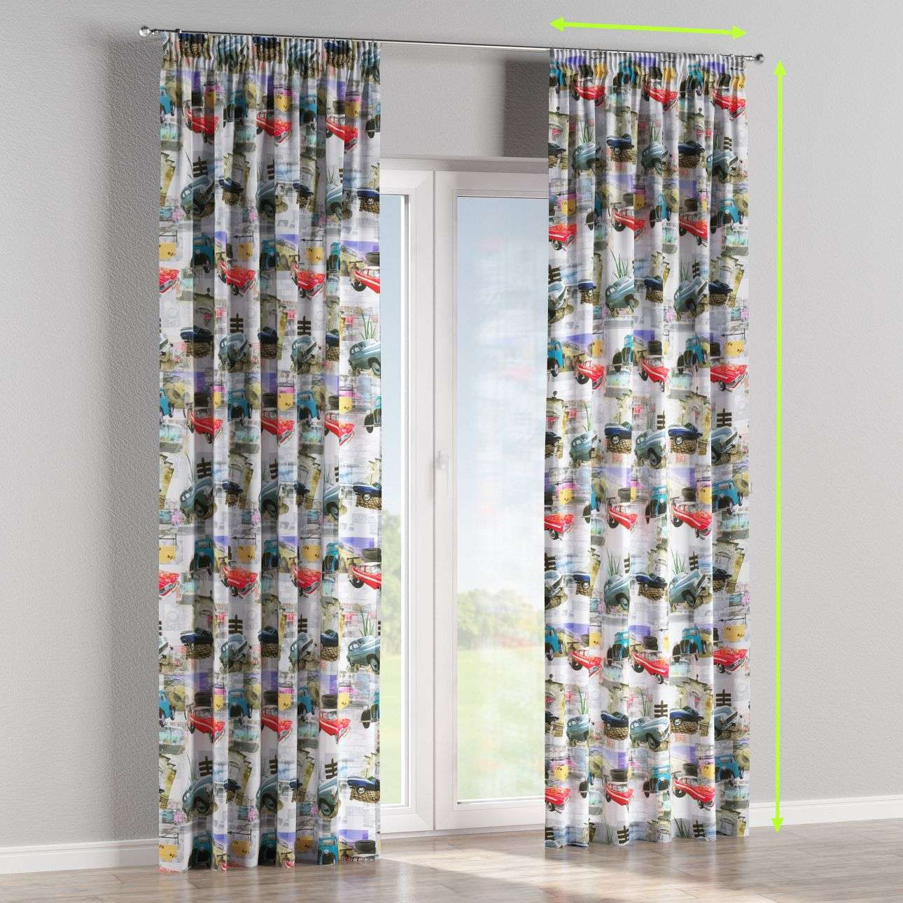 Pencil pleat curtains in collection Freestyle, fabric: 140-91