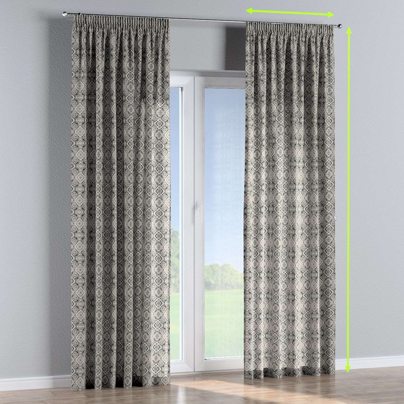 Pencil pleat curtains in collection Comic Book & Geo Prints, fabric: 141-18