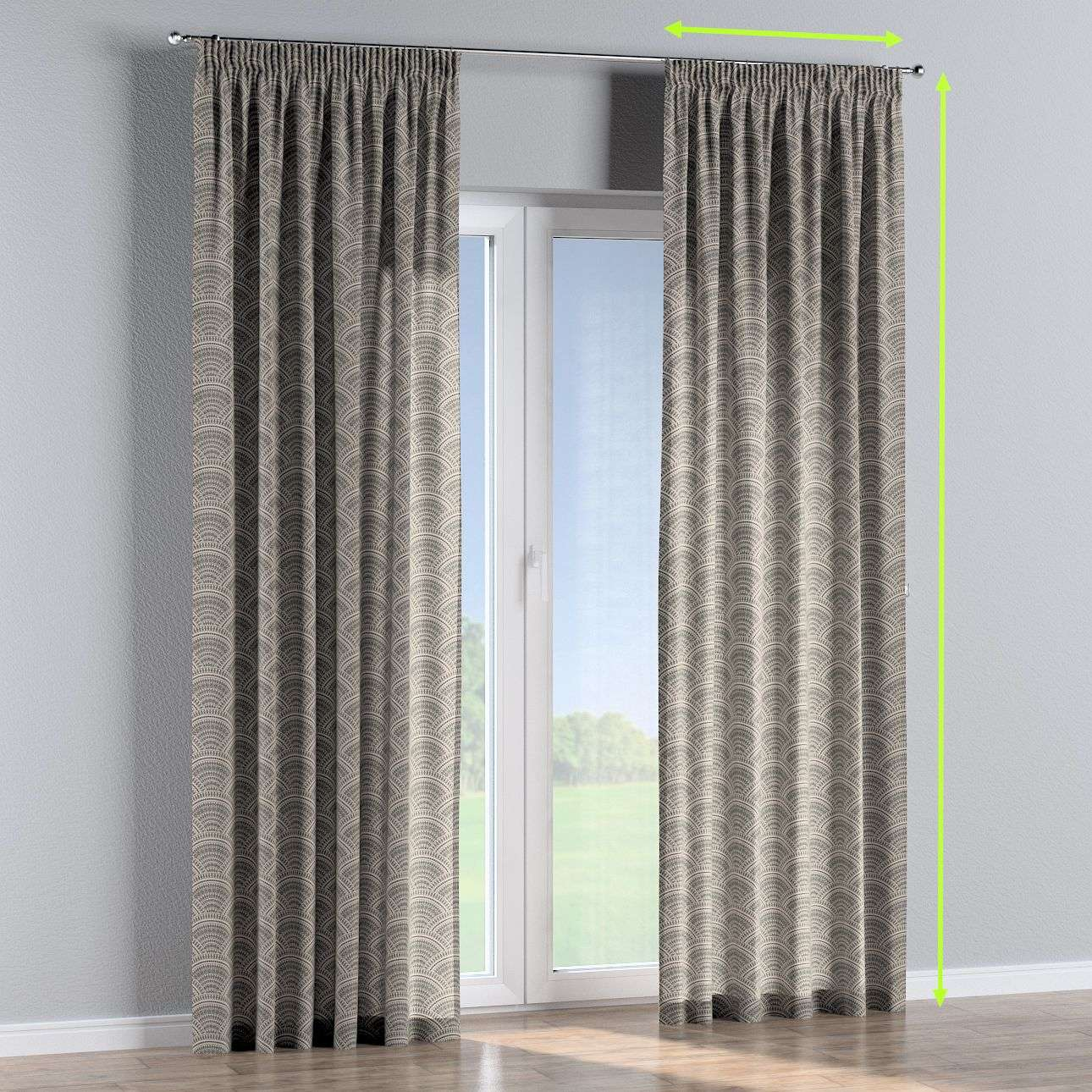 Pencil pleat curtains in collection Comic Book & Geo Prints, fabric: 141-19