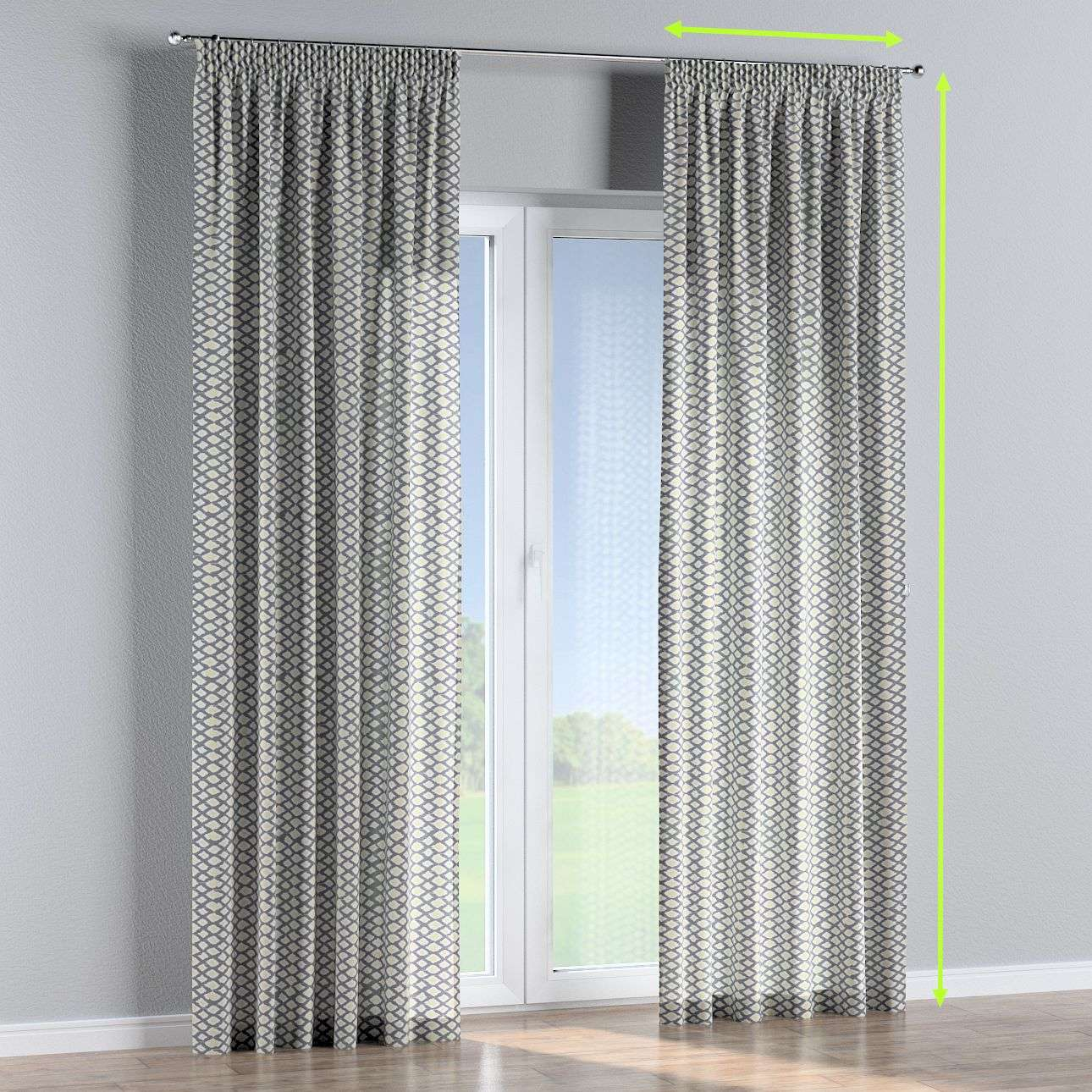Pencil pleat curtains in collection Comic Book & Geo Prints, fabric: 141-21