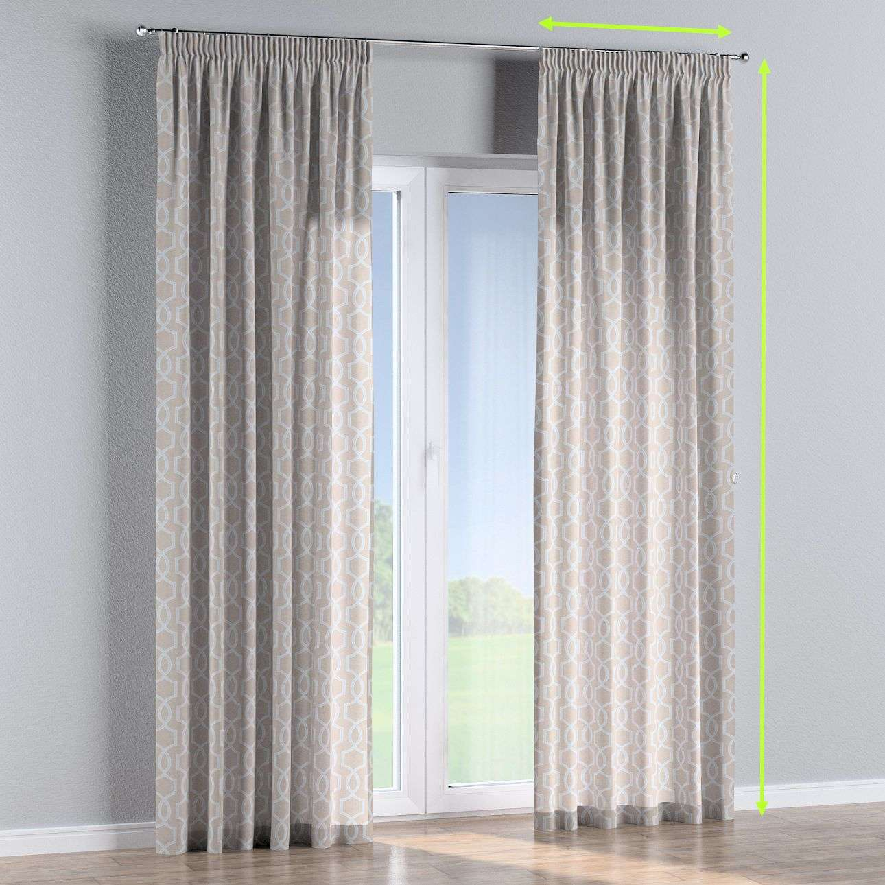 Pencil pleat curtains in collection Comics/Geometrical, fabric: 141-26