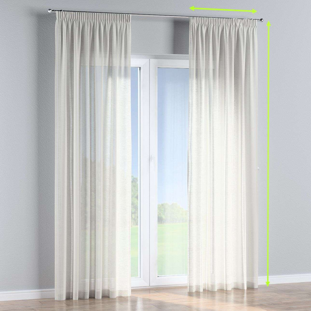 Pencil pleat curtains in collection Romantica, fabric: 141-30