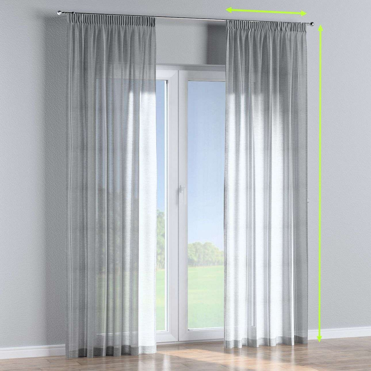 Pencil pleat curtains in collection Romantica, fabric: 141-31