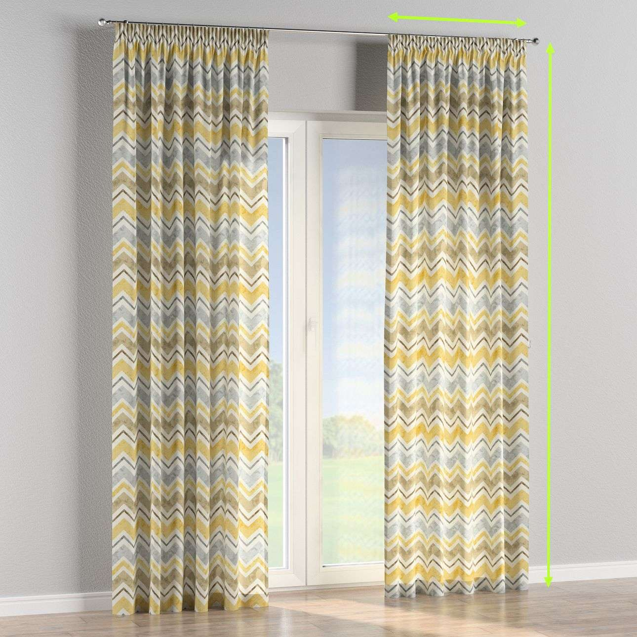 Pencil pleat curtains in collection Acapulco, fabric: 141-39