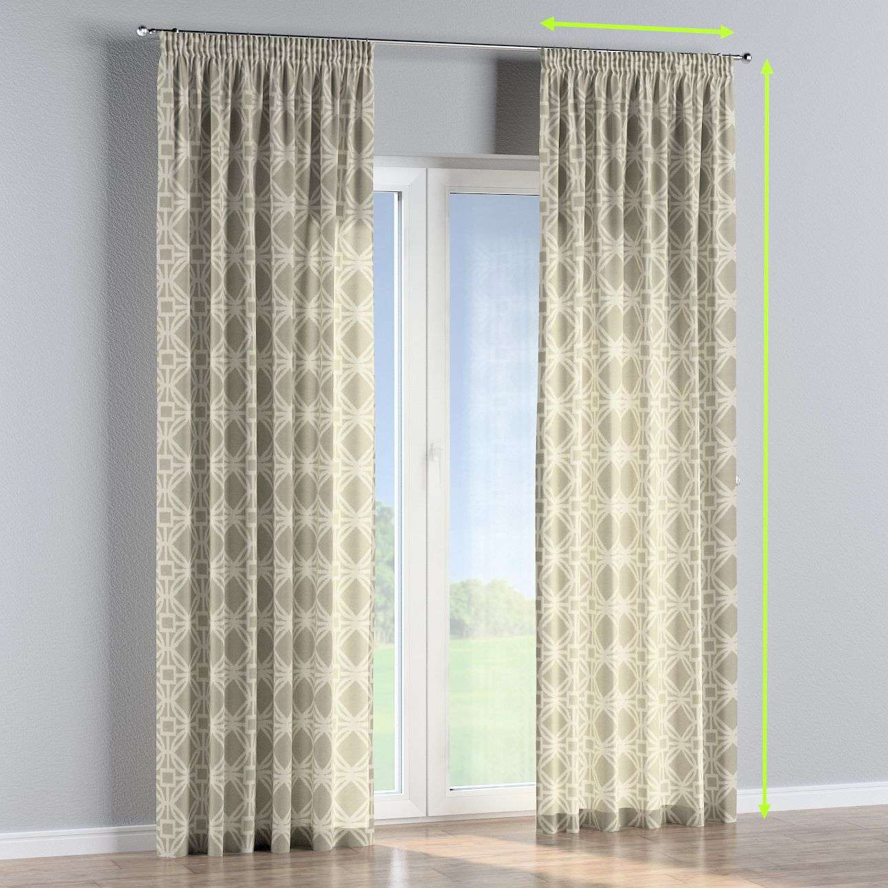 Pencil pleat curtains in collection Comics/Geometrical, fabric: 141-56