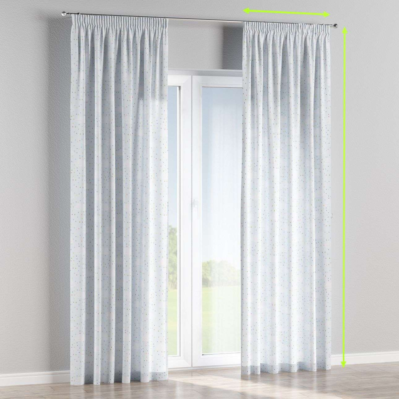 Pencil pleat curtains in collection Apanona, fabric: 151-03