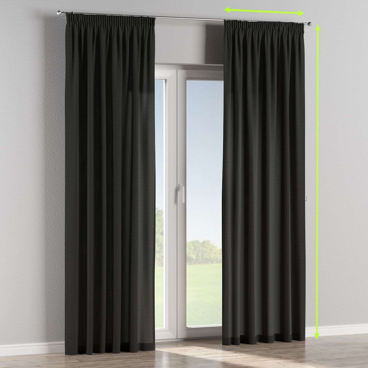 Pencil pleat curtain in collection Jupiter, fabric: 127-99