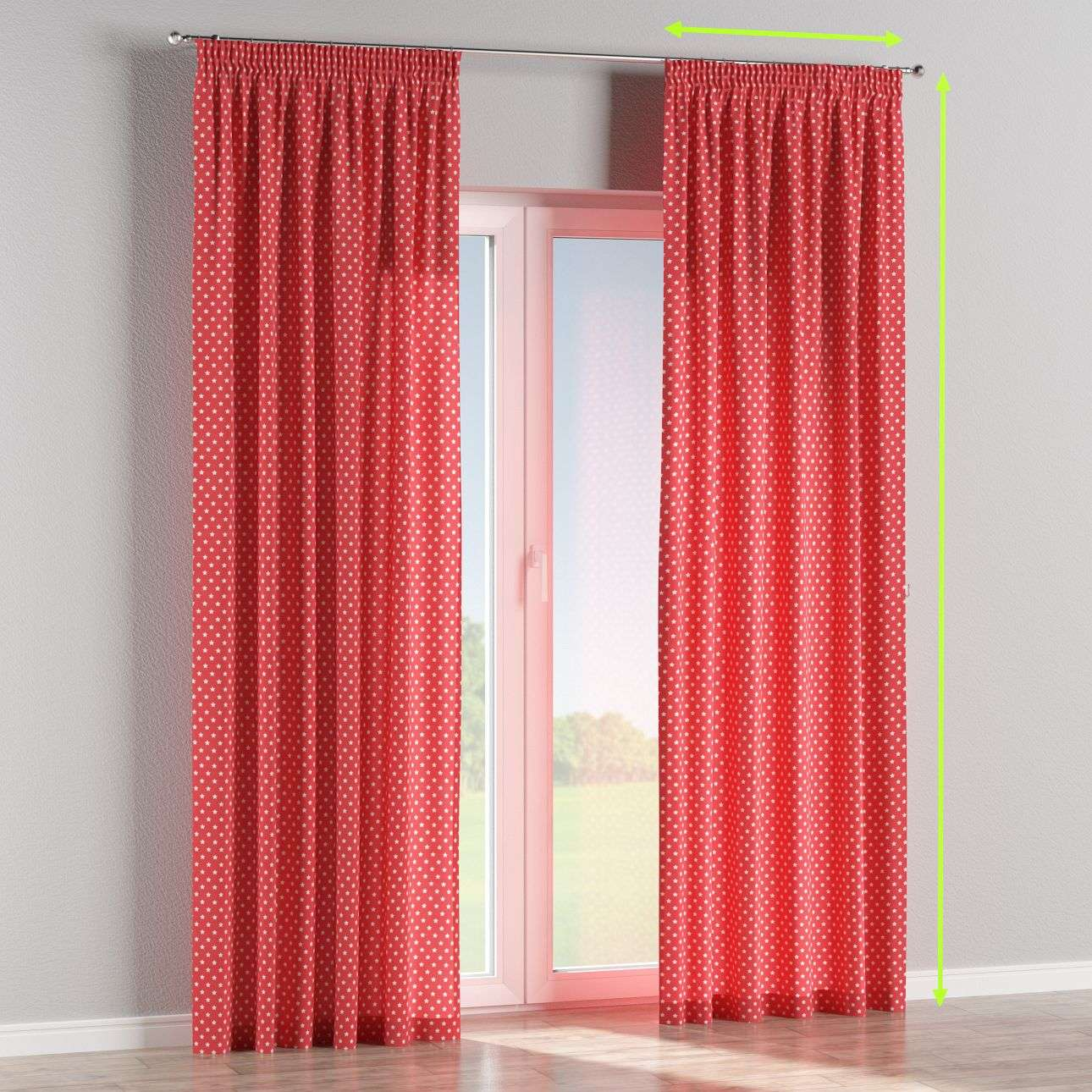 Pencil pleat curtain in collection Little World, fabric: 137-69