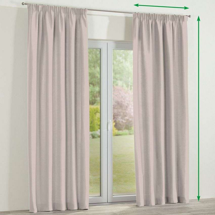 Pencil pleat curtain in collection Etna, fabric: 705-02