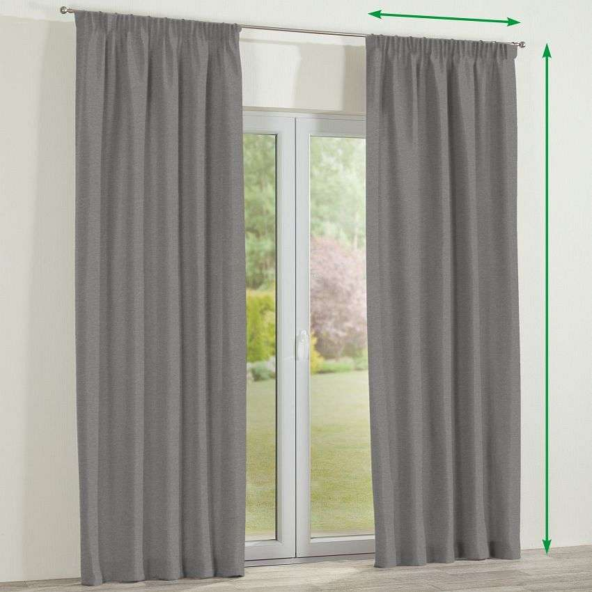 Pencil pleat curtain in collection Etna, fabric: 705-03