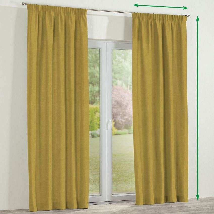 Pencil pleat curtain in collection Etna, fabric: 705-04