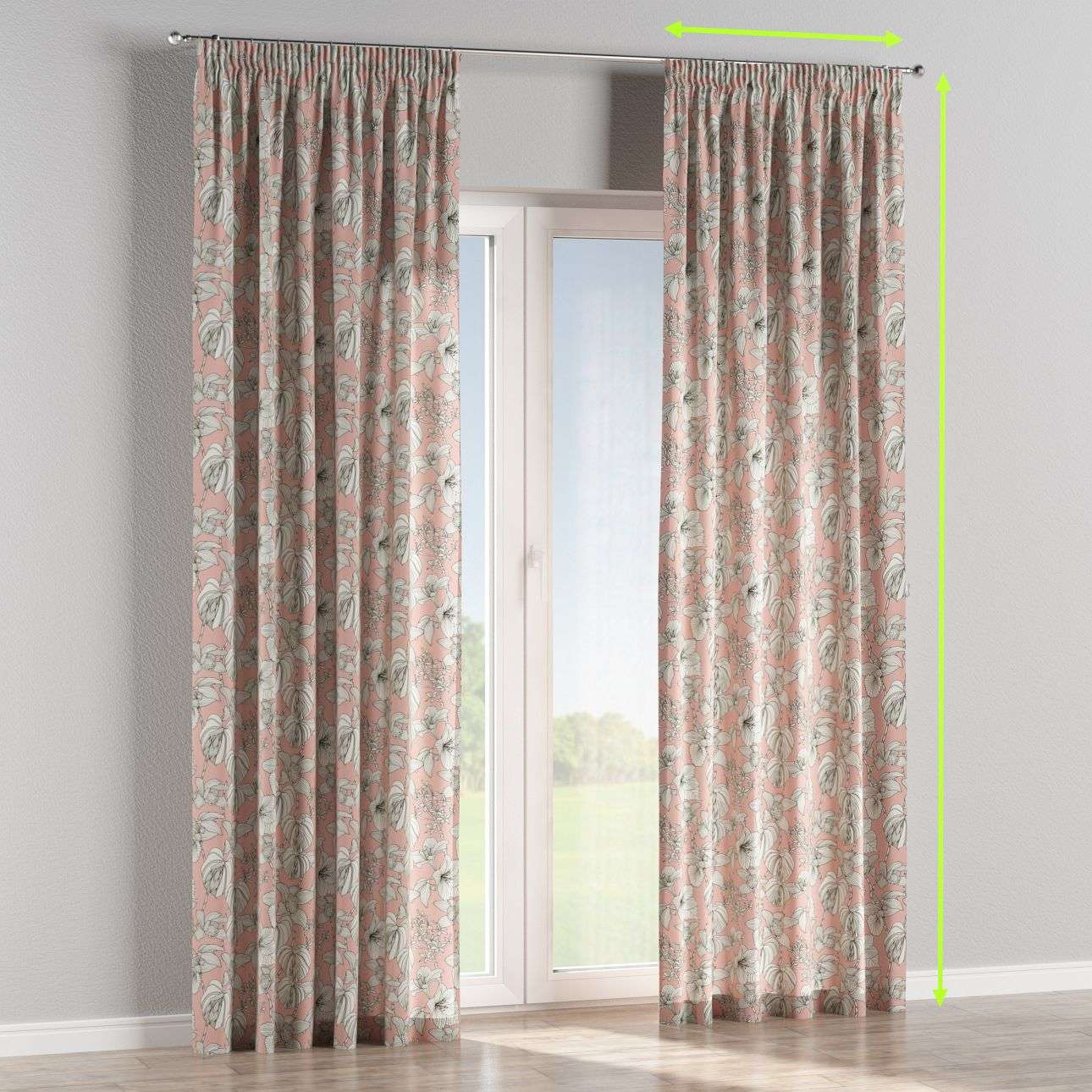Pencil pleat curtain in collection Brooklyn, fabric: 137-74