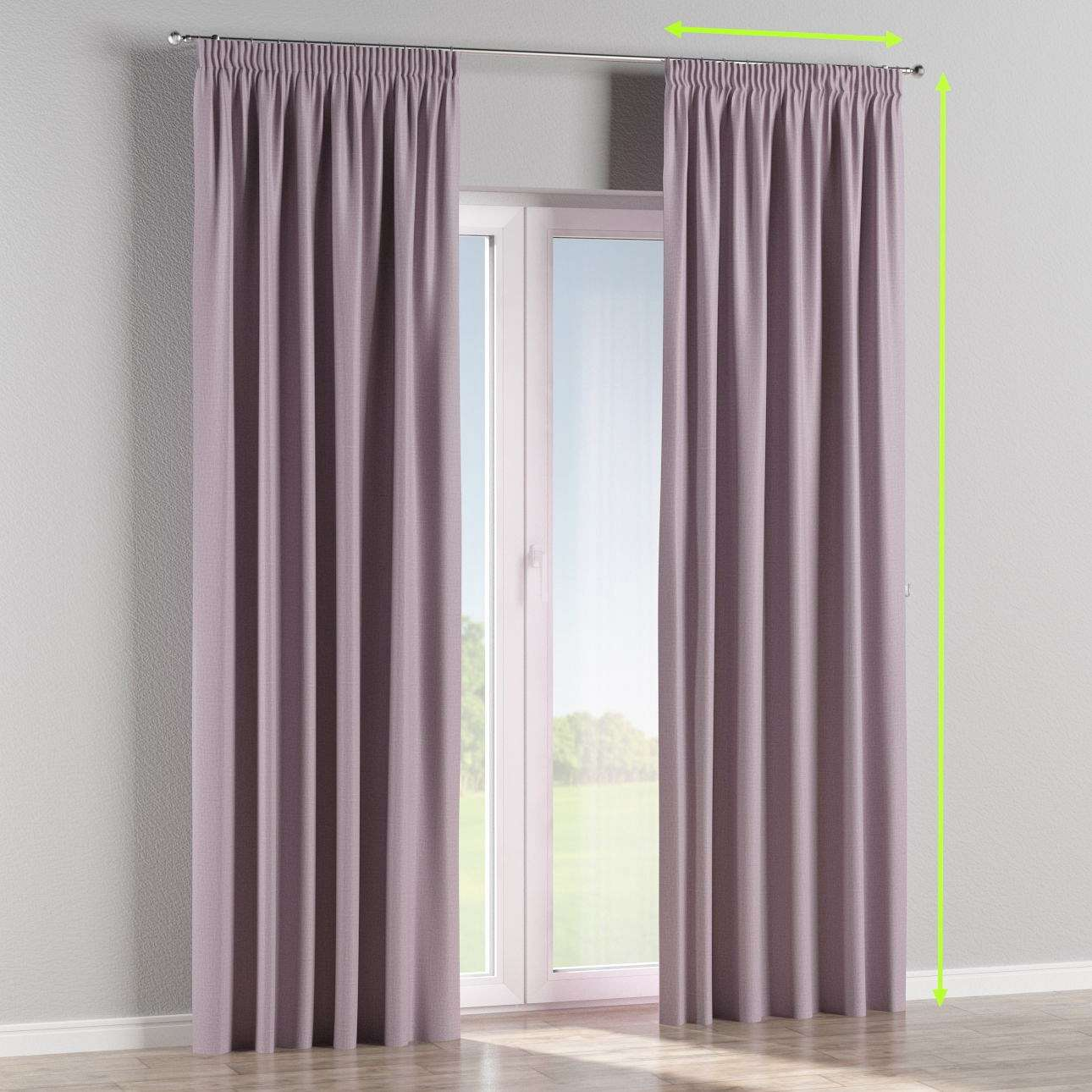 Pencil pleat curtain in collection Blackout, fabric: 269-60