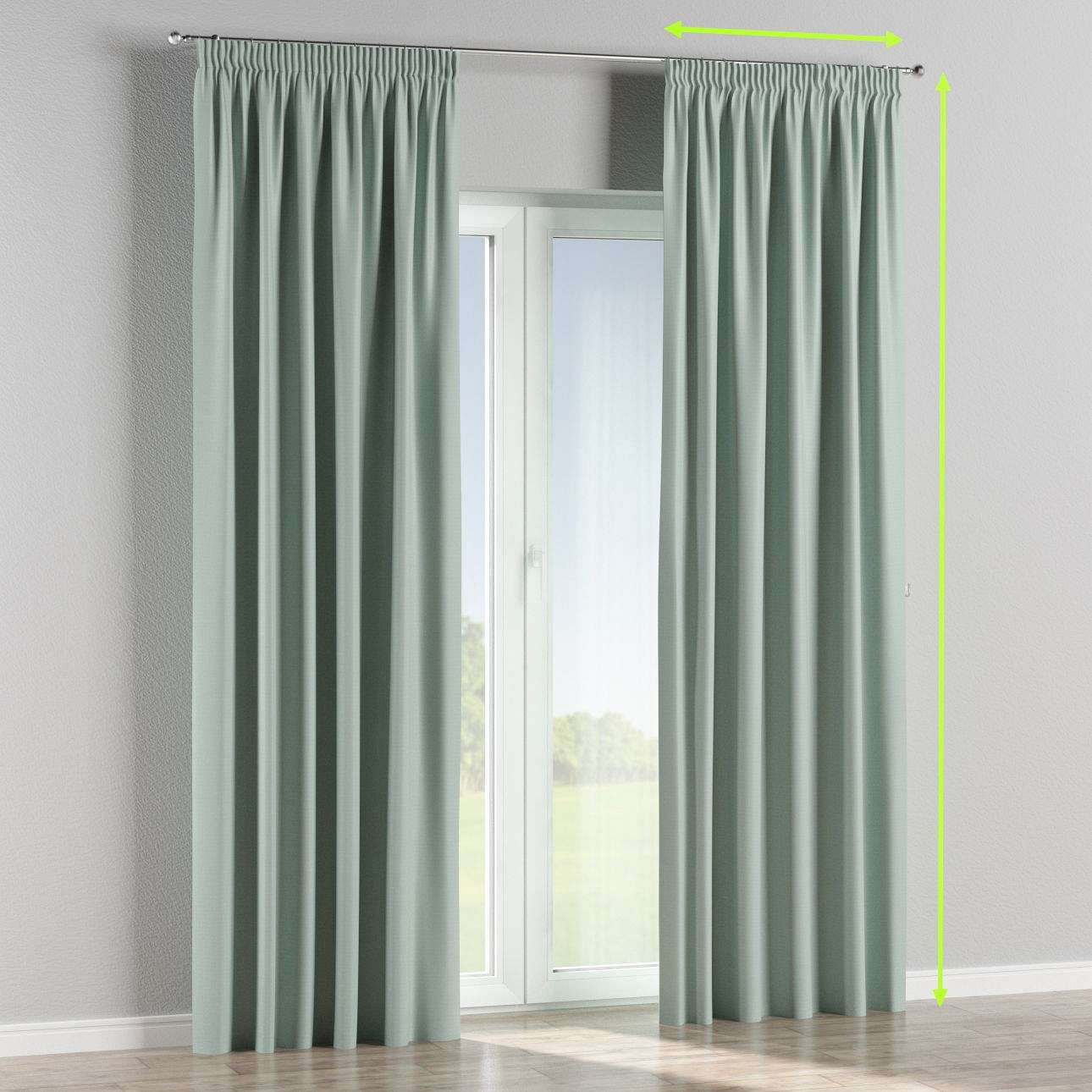 Pencil pleat curtain in collection Blackout, fabric: 269-61