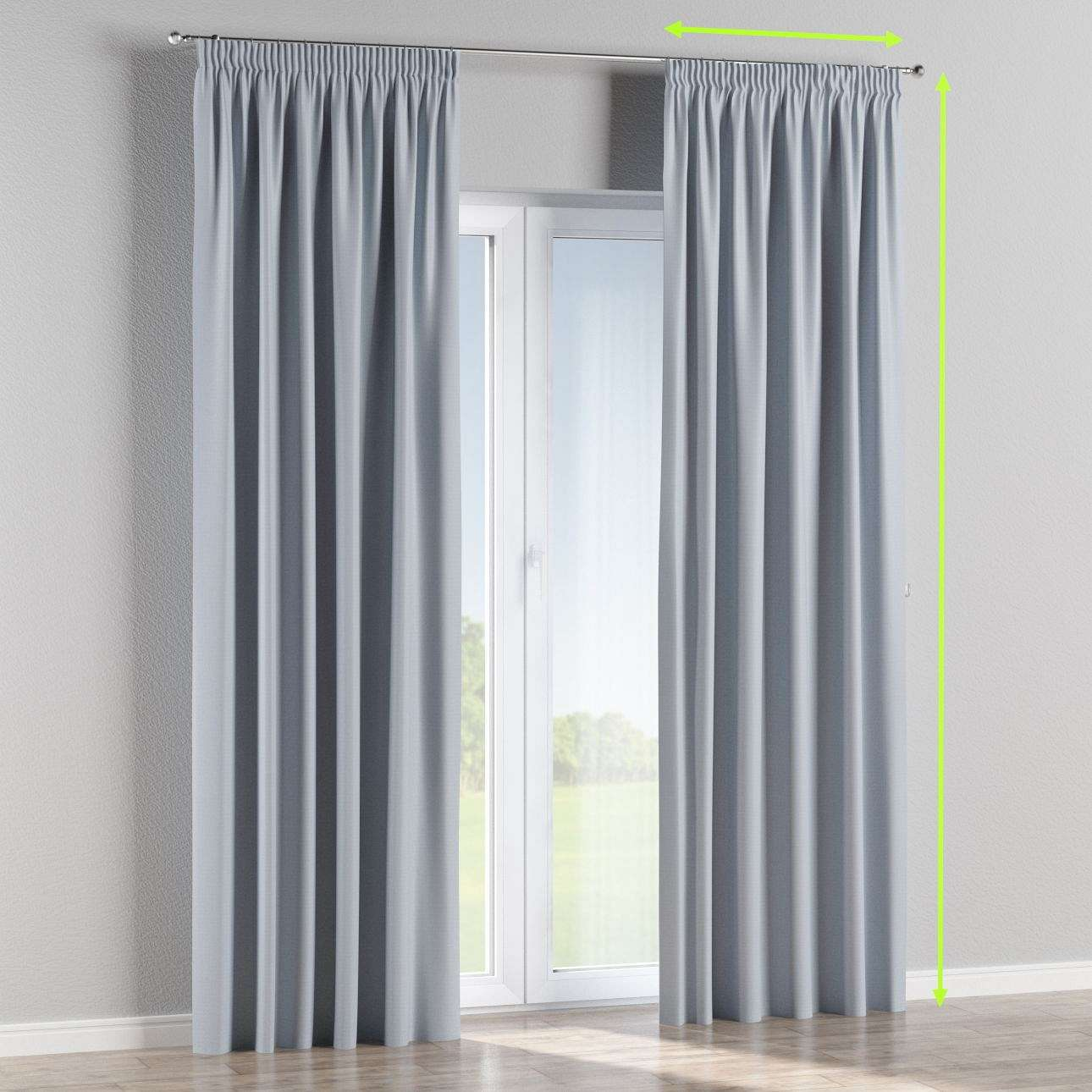 Pencil pleat curtain in collection Blackout, fabric: 269-62