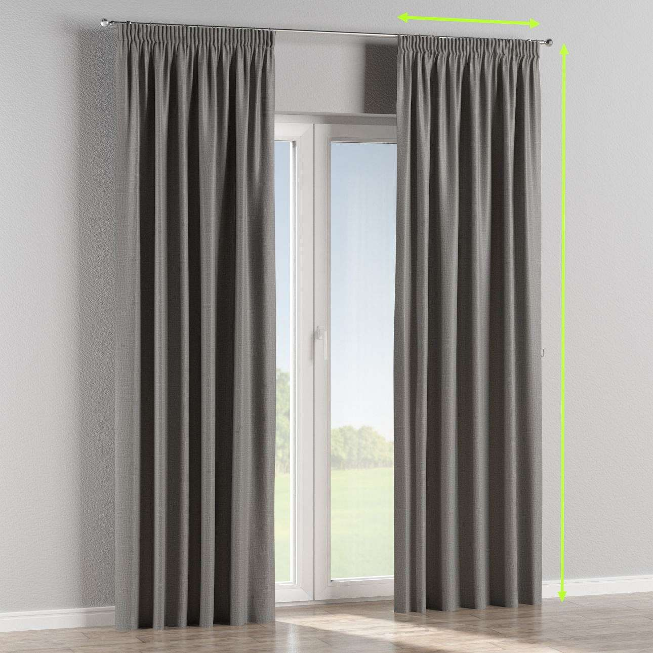 Pencil pleat curtain in collection Blackout, fabric: 269-63