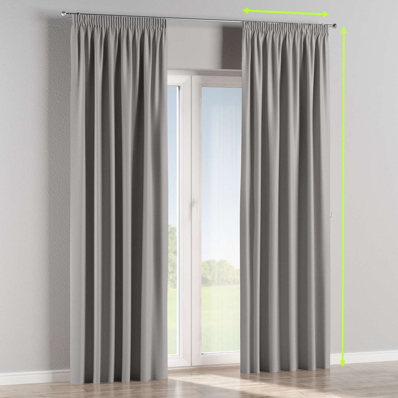 Pencil pleat curtain in collection Blackout, fabric: 269-64