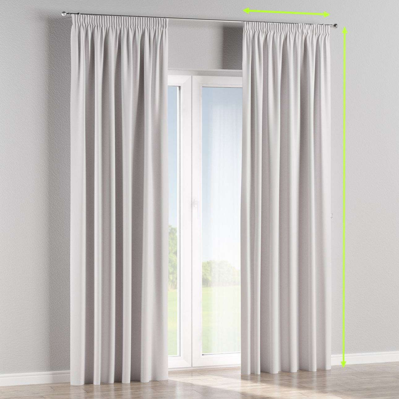 Pencil pleat curtain in collection Blackout, fabric: 269-65