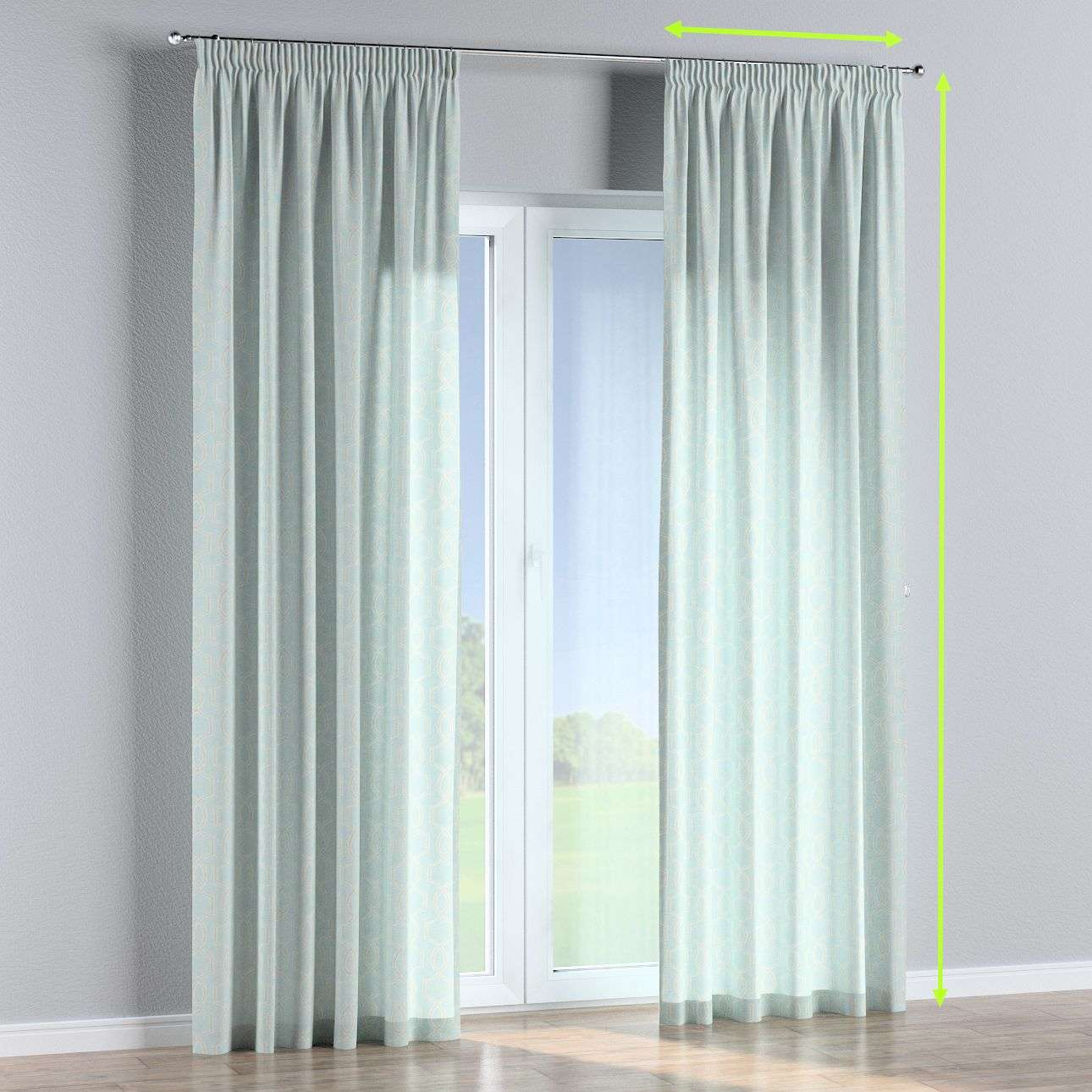Pencil pleat curtains in collection Comics/Geometrical, fabric: 141-24