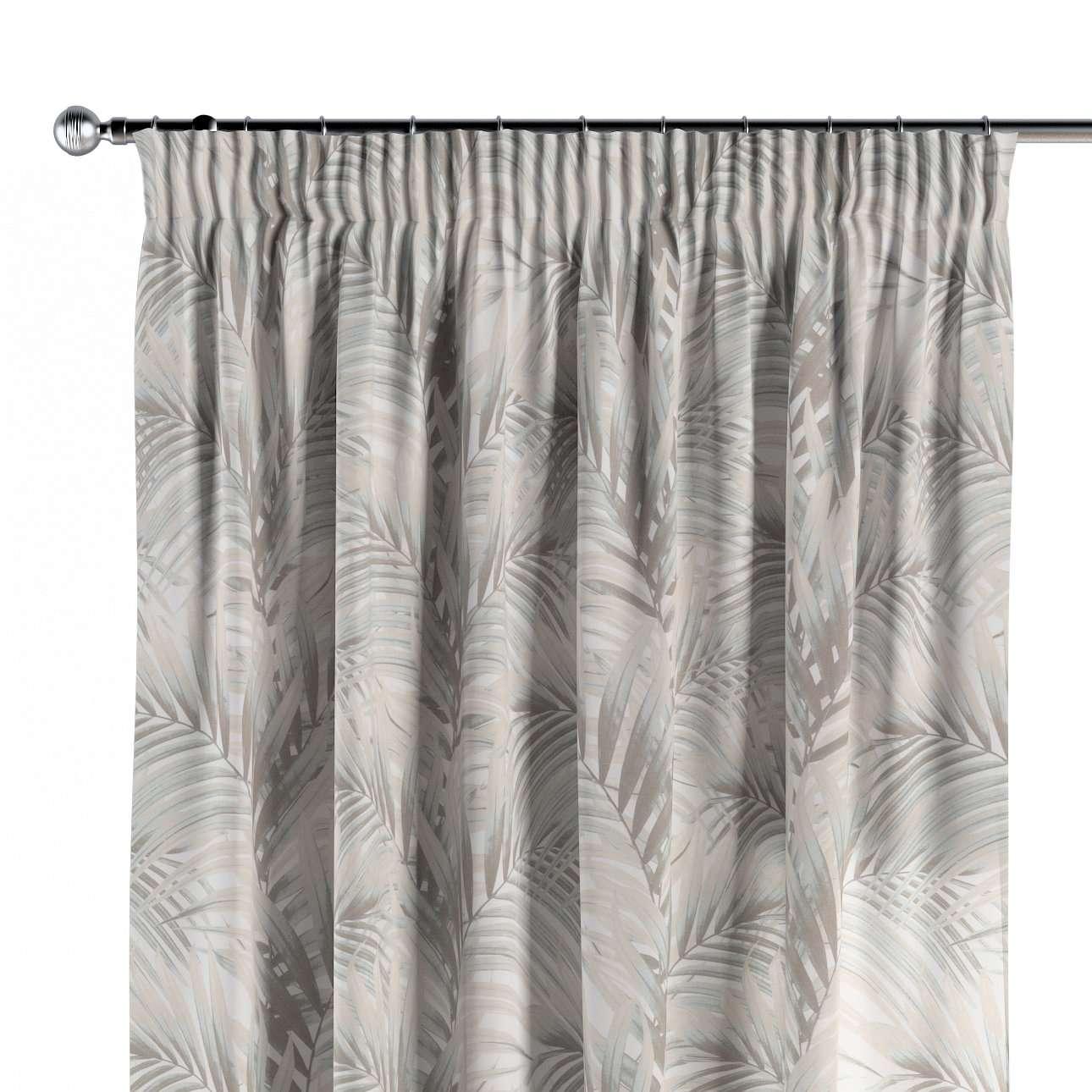 Pencil pleat curtain in collection Gardenia, fabric: 142-14