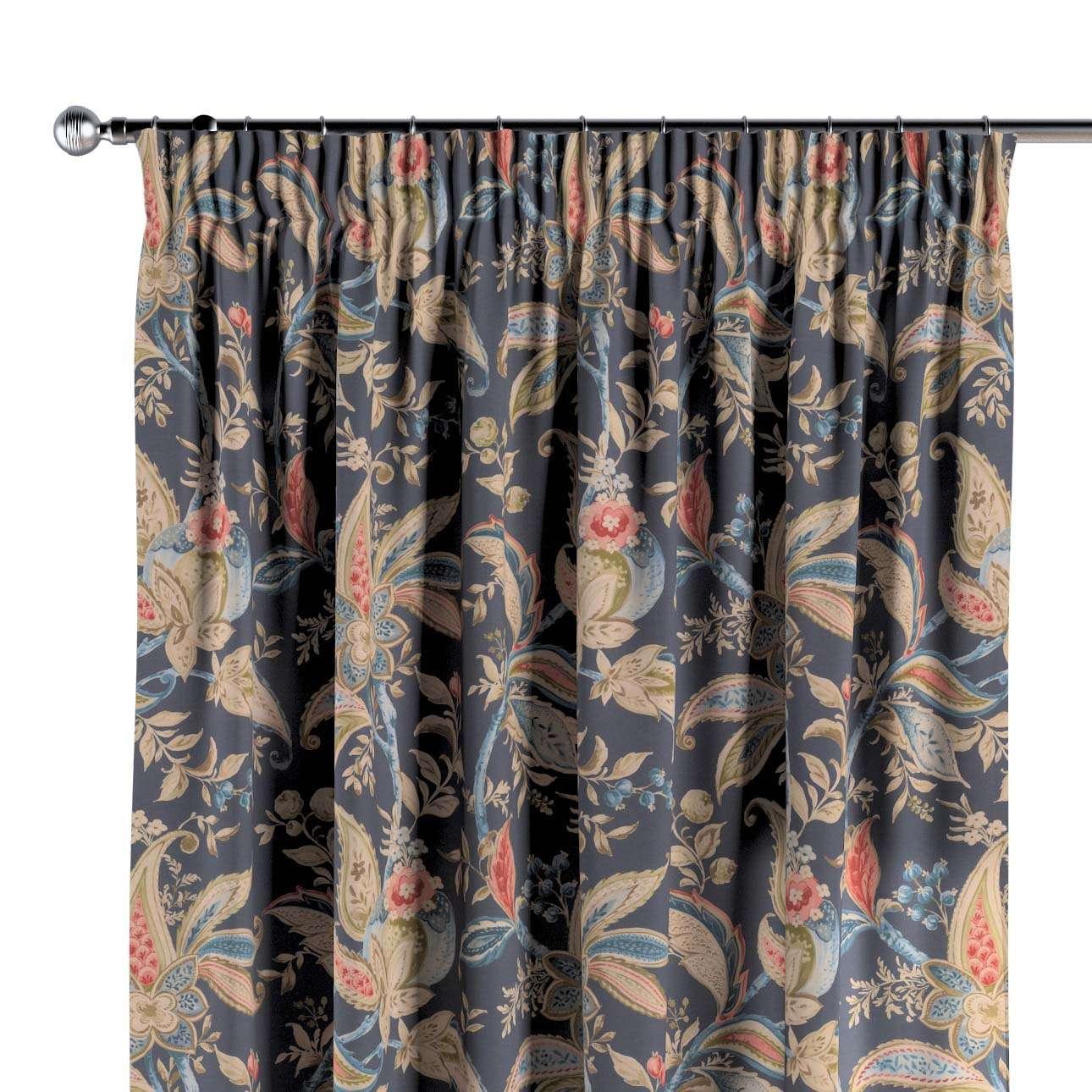 Pencil pleat curtain in collection Gardenia, fabric: 142-19