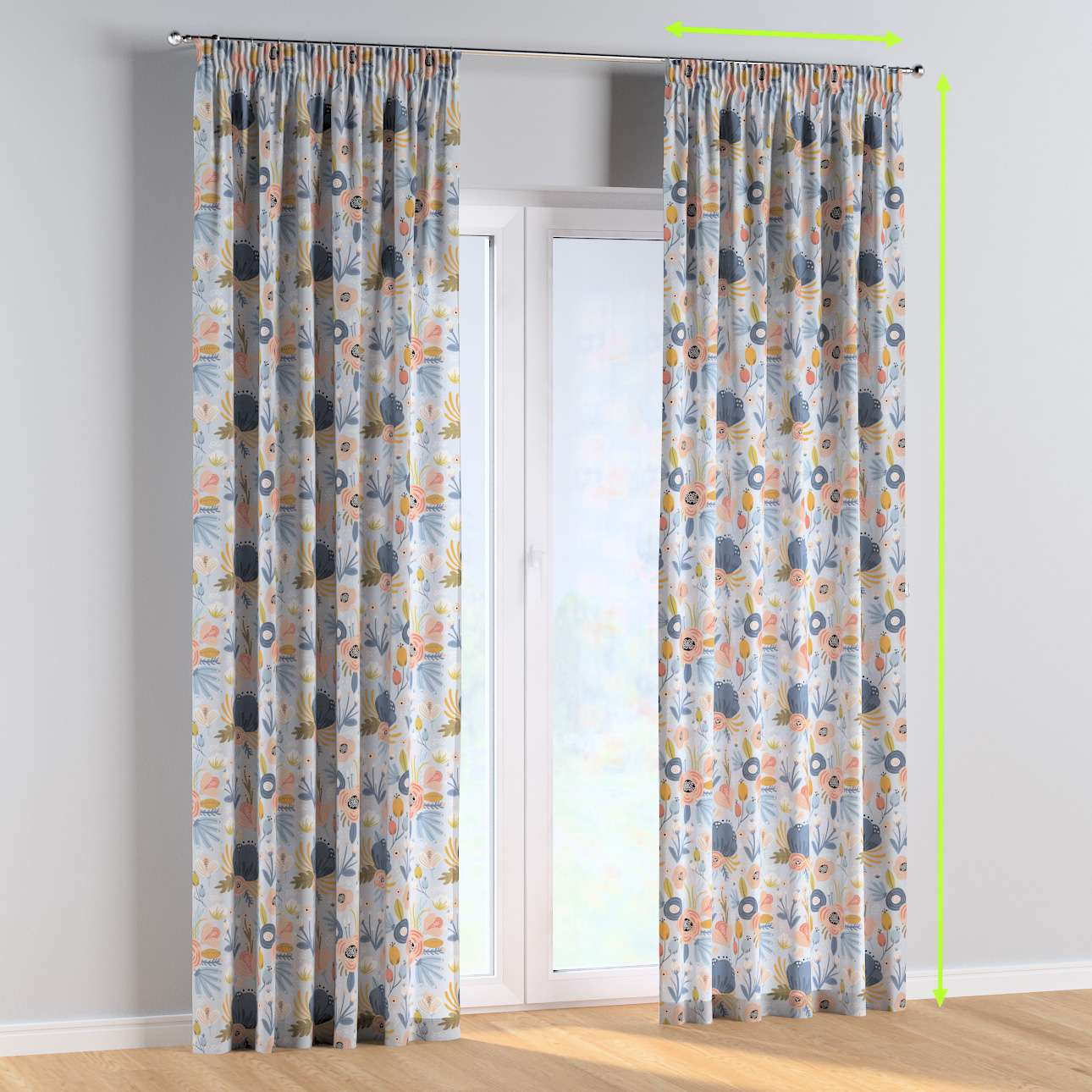 Pencil pleat curtains in collection Magic Collection, fabric: 500-05