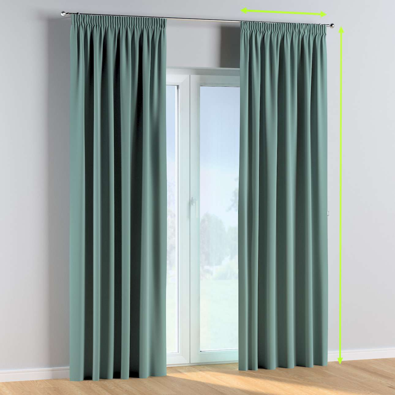 Pencil pleat curtains in collection Posh Velvet, fabric: 704-18