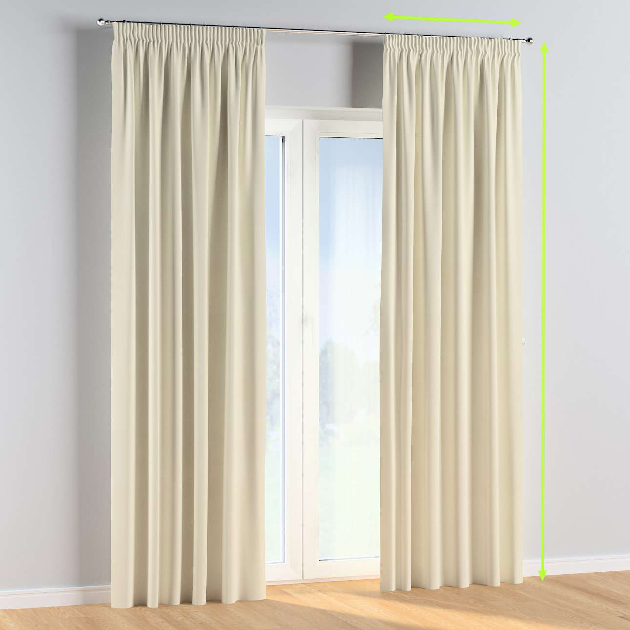 Pencil pleat curtains in collection Posh Velvet, fabric: 704-10