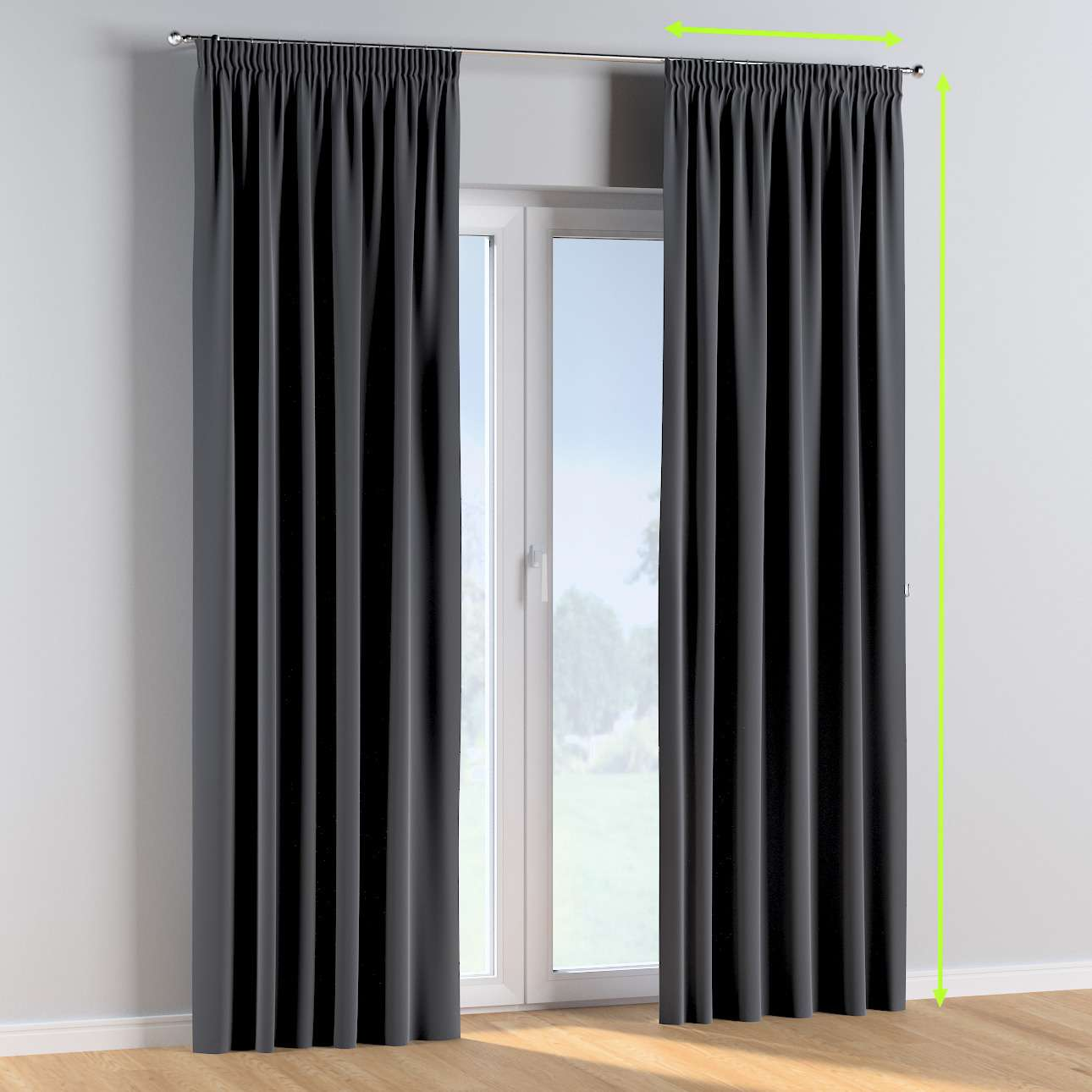 Pencil pleat curtains in collection Posh Velvet, fabric: 704-12