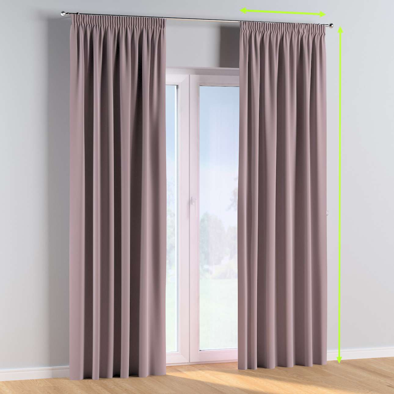 Pencil pleat curtains in collection Posh Velvet, fabric: 704-14