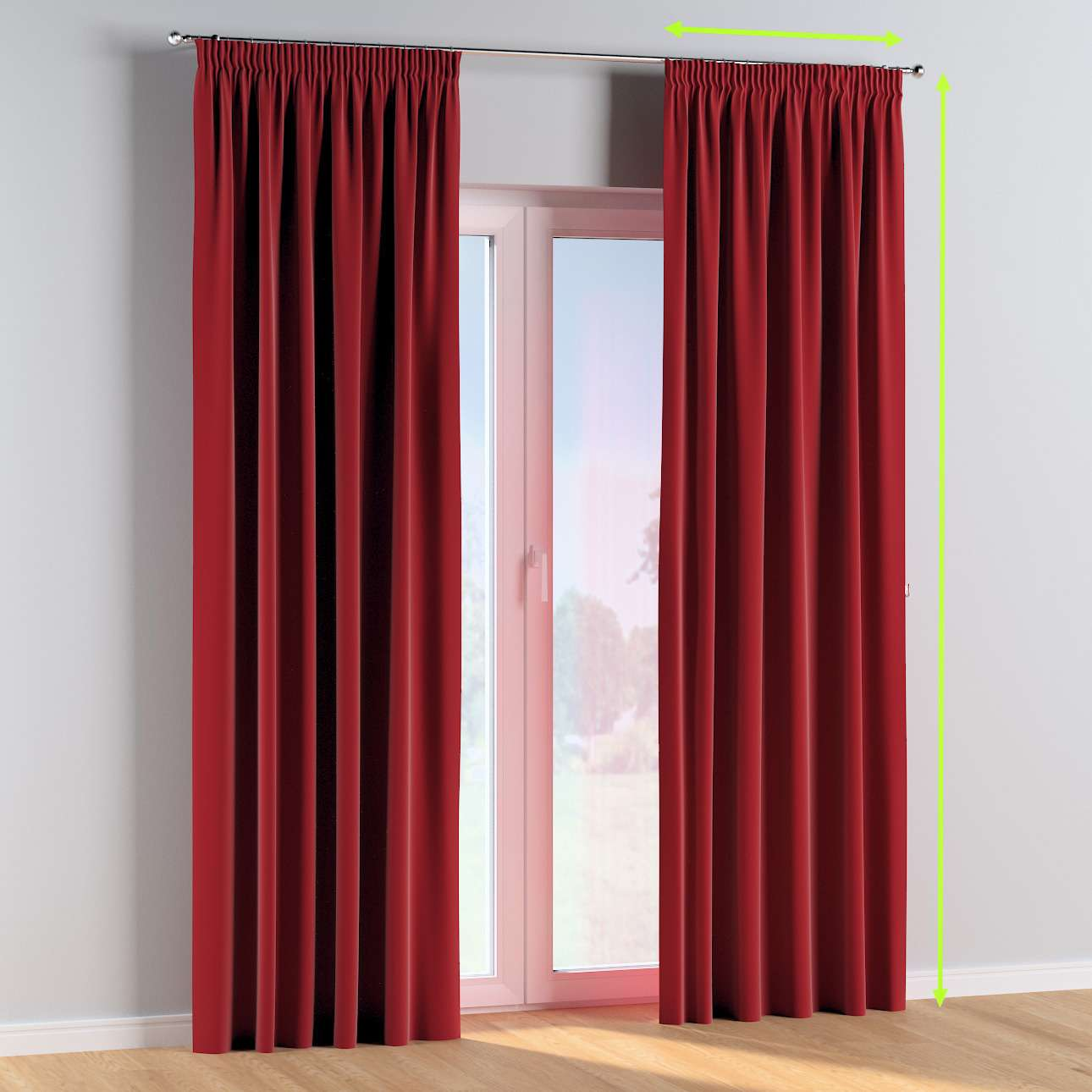 Pencil pleat curtains in collection Posh Velvet, fabric: 704-15