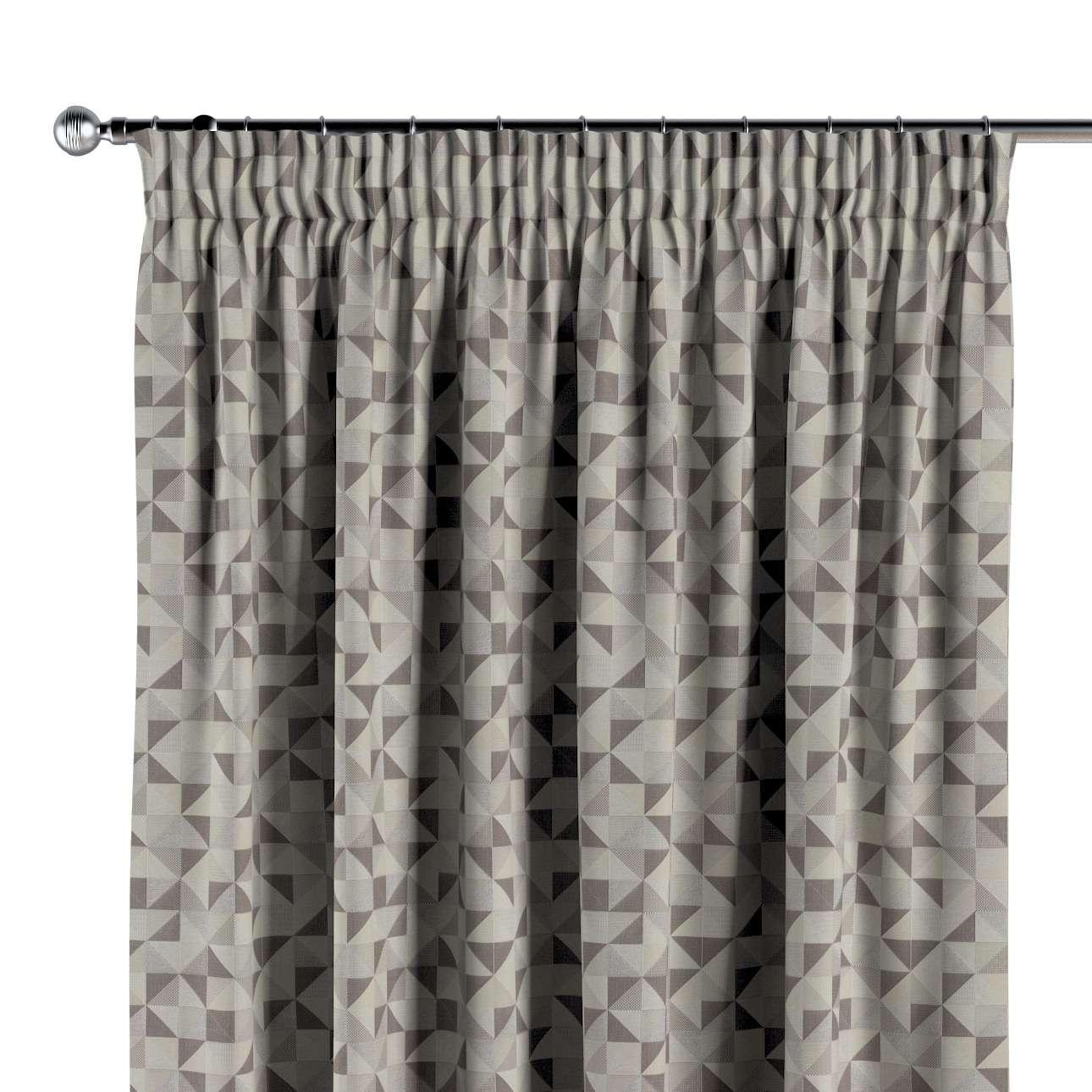Pencil pleat curtain in collection Retro Glam, fabric: 142-85