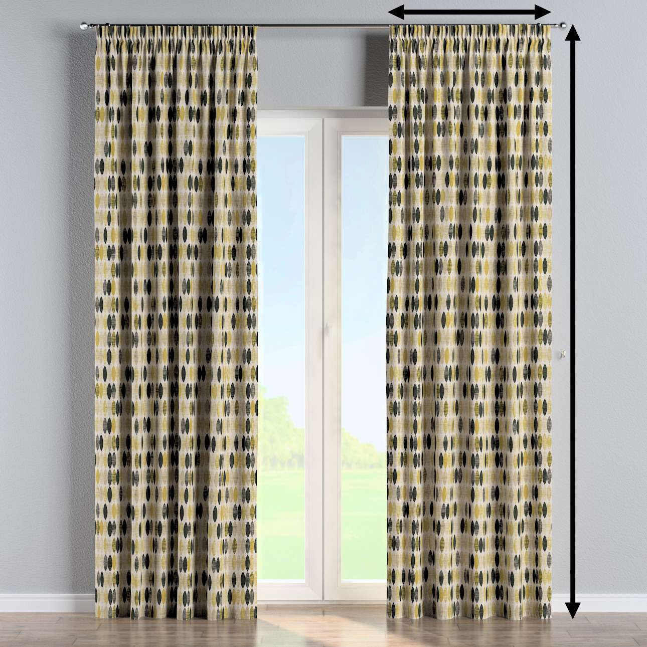 Pencil pleat curtains in collection Modern, fabric: 142-99