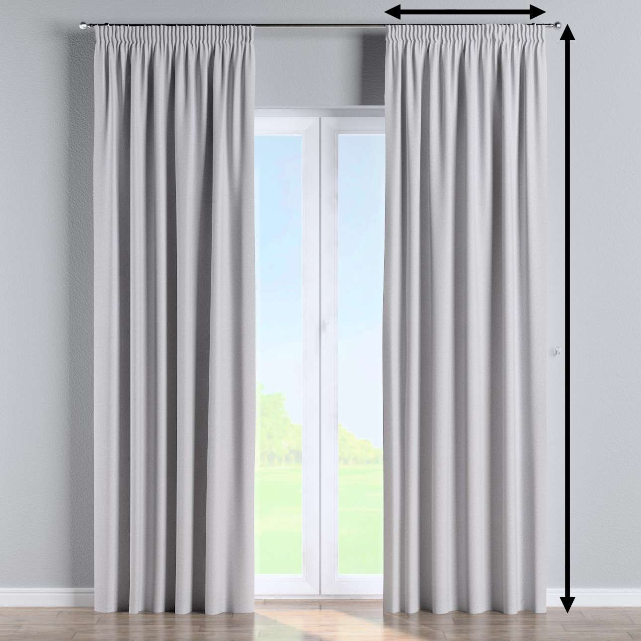 Pencil pleat curtain in collection Amsterdam, fabric: 704-45
