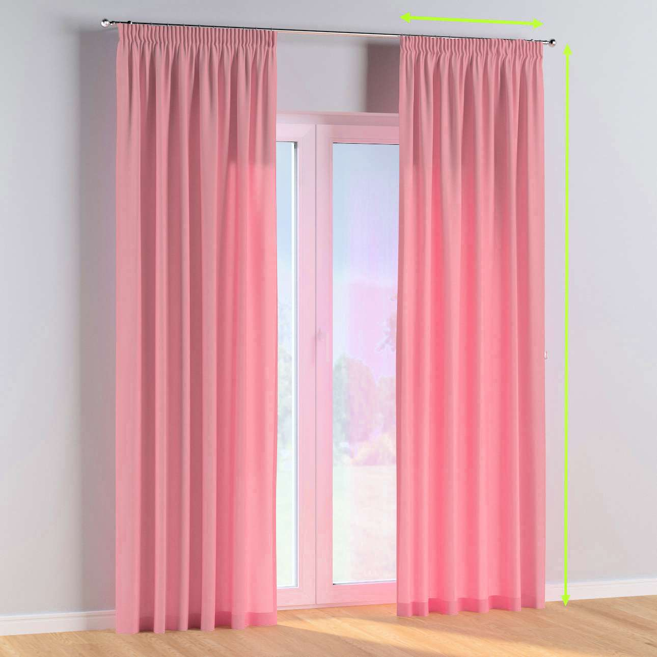 Pencil pleat curtains in collection Happiness, fabric: 133-62