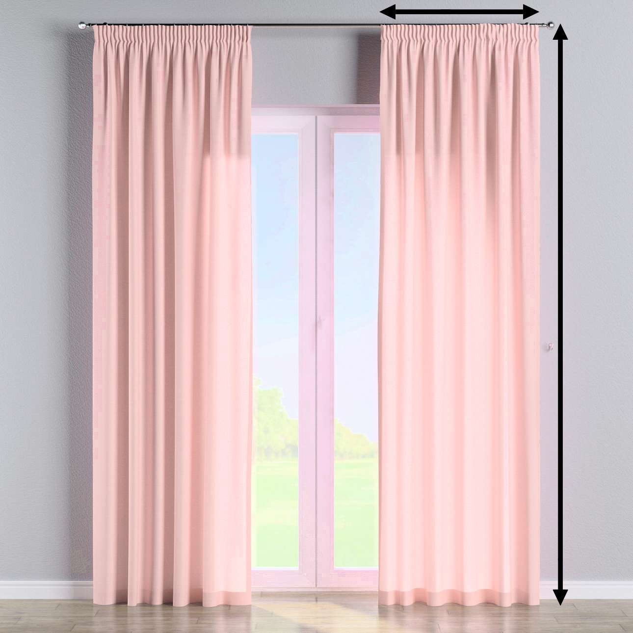 Pencil pleat curtain in collection Loneta , fabric: 133-39