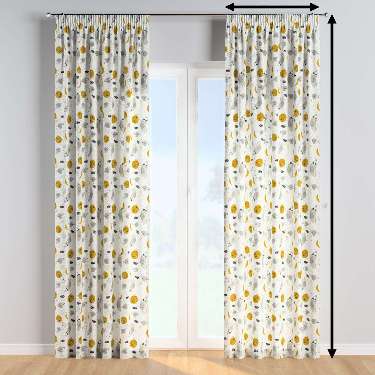 Pencil pleat curtains in collection Magic Collection, fabric: 500-44