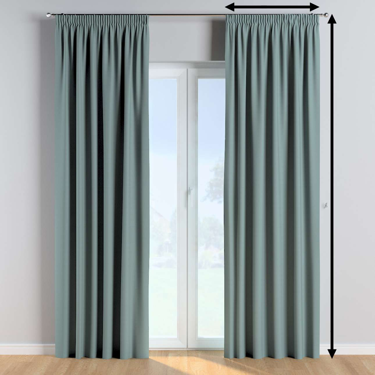 Pencil pleat curtains in collection Cotton Story, fabric: 702-40