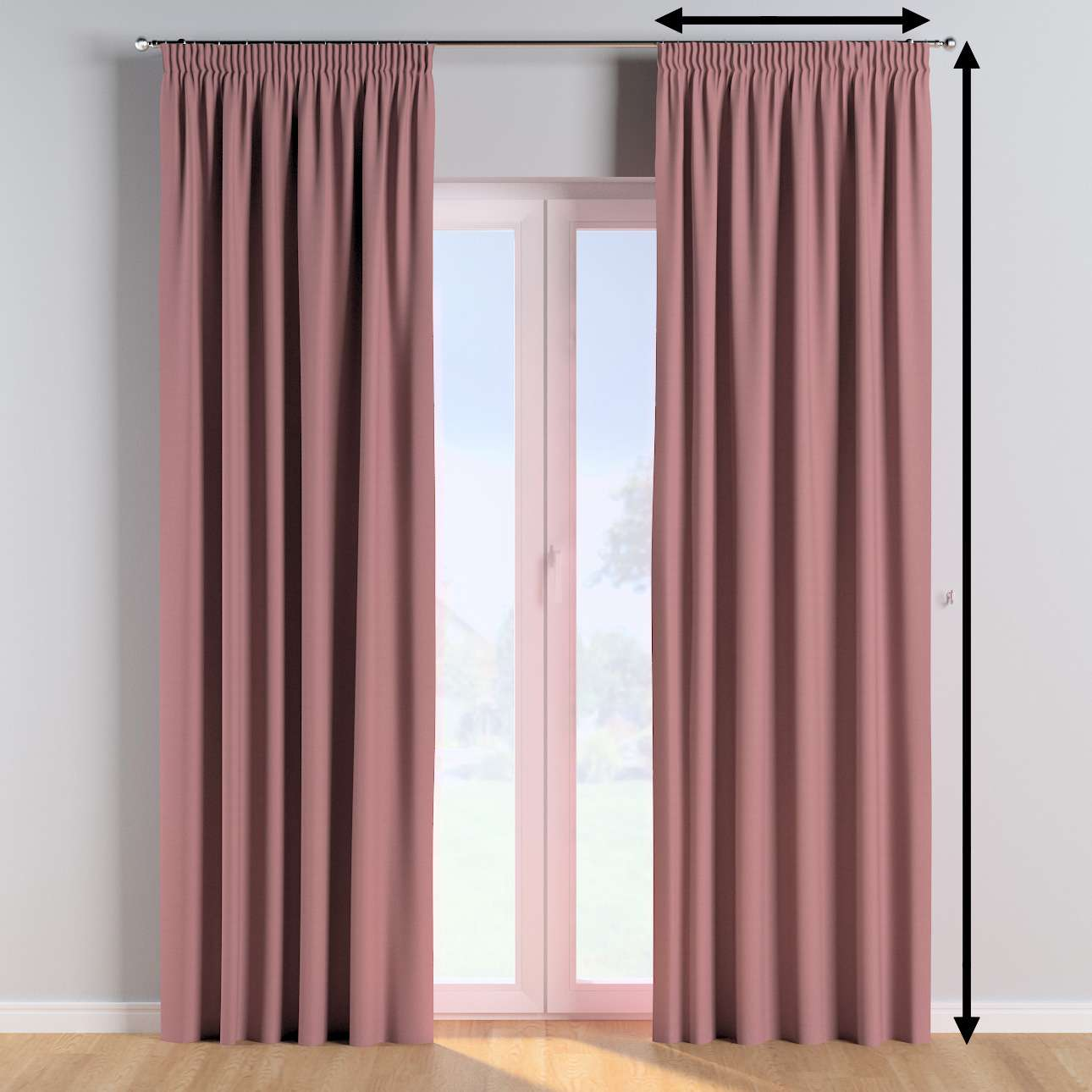 Pencil pleat curtains in collection Cotton Story, fabric: 702-43