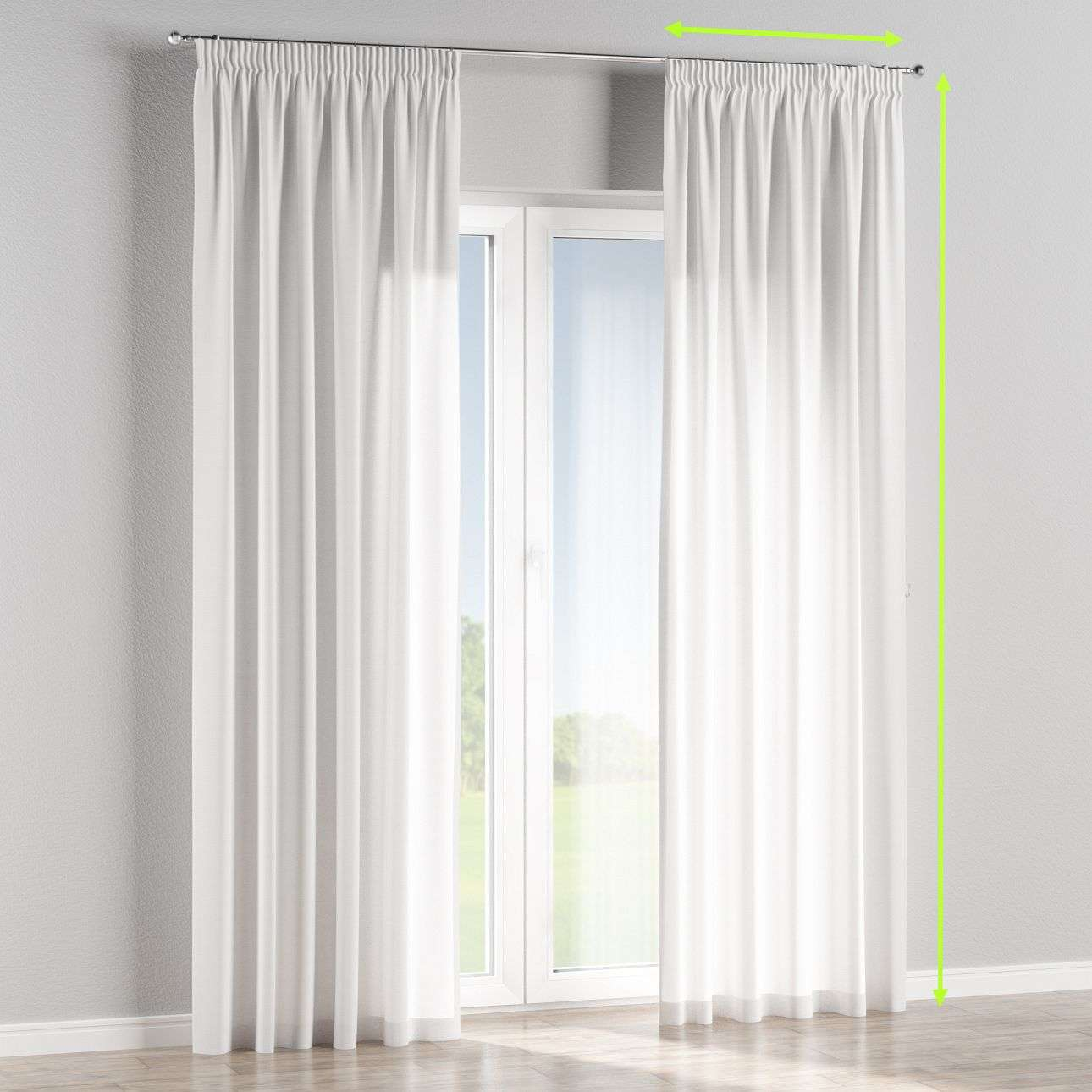 Pencil pleat curtain in collection Jupiter, fabric: 127-01
