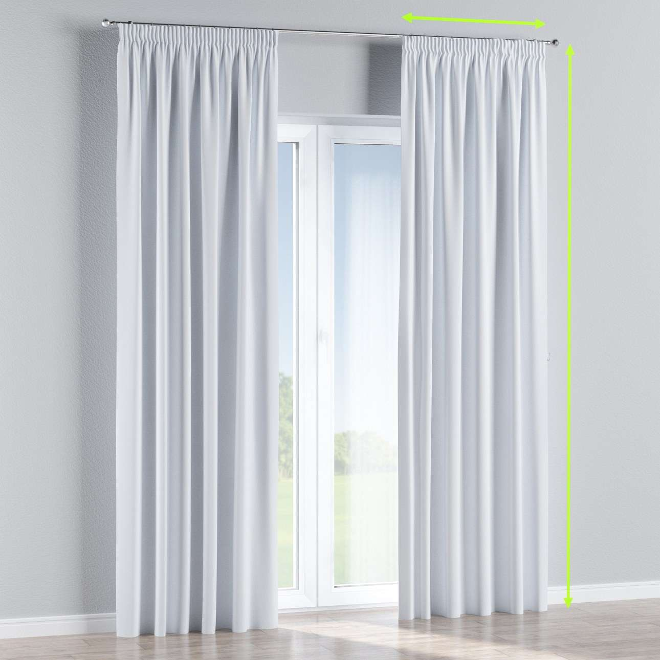 Pencil pleat curtain in collection Blackout, fabric: 269-01