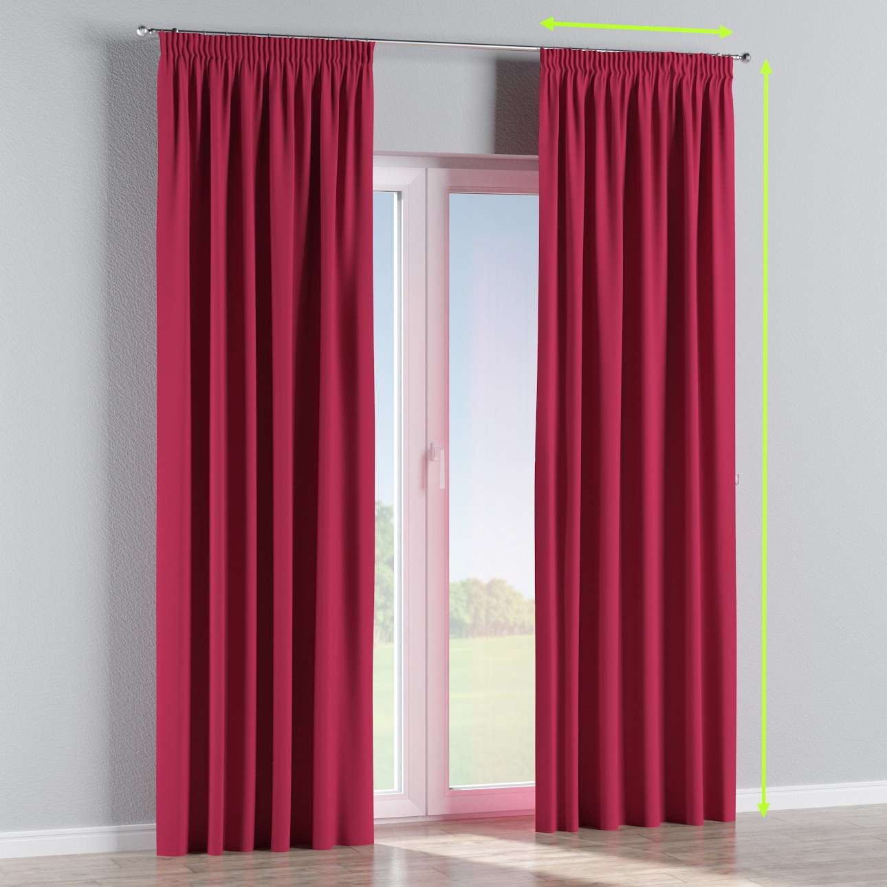 Pencil pleat curtains in collection Blackout, fabric: 269-51